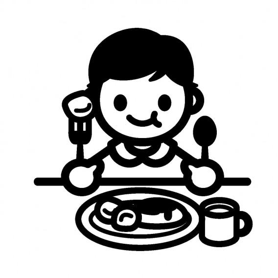 食事 イラスト